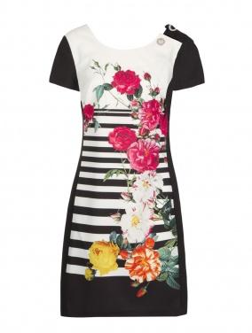 Robe manches courtes imprimé floral